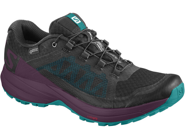 Salomon XA Elevate GTX Zapatillas Mujer, black/potent purple/tropical green